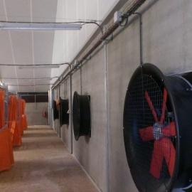 Hogedruk ventilatoren voor het drogen van de mest