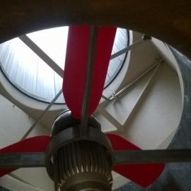 Binnenzijde van de recirculatiekast en dakkoker.